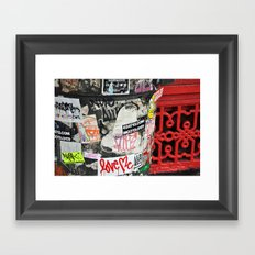 Stickers Framed Art Print