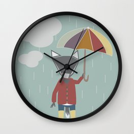 Rainy Day Wall Clock