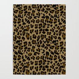 Leopard Print Pattern Poster