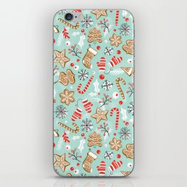 Gingerbread Dreams - Aqua iPhone Skin