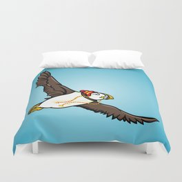 Puffin Wearing A Hat Duvet Cover