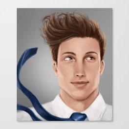 boy in a breeze Canvas Print