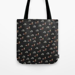 Dude The Dude blk Tote Bag