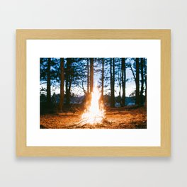 camp fire Framed Art Print