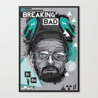 breaking bad Canvas Prints featuring Breaking Bad by Sophie Bland