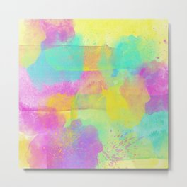 Rainbowcolors Watercolor Metal Print