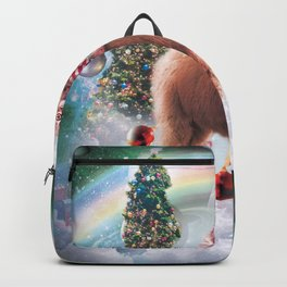 Christmas Rainbow Llama - Cat Llama Backpack