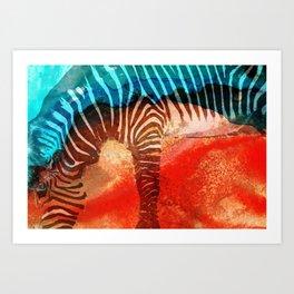 Zebra Love - Art By Sharon Cummings Art Print