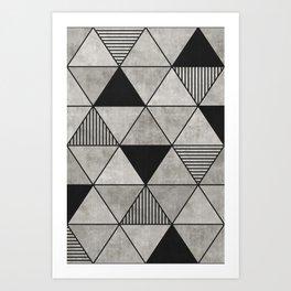 Concrete Triangles 2 Art Print