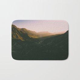 Sunset overt the mountains Bath Mat