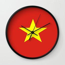 Flag of vietnam Wall Clock