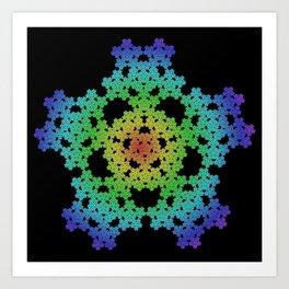 Pentaflake Art Print