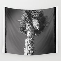 palm tree Wall Tapestries featuring palm tree by spysessionz