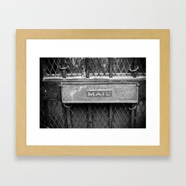 Signs: Mail Framed Art Print