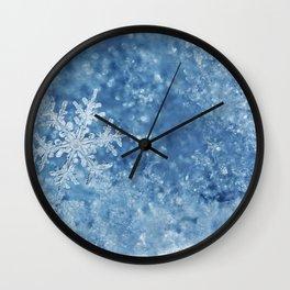 Winter wonderland Snowflakes Wall Clock