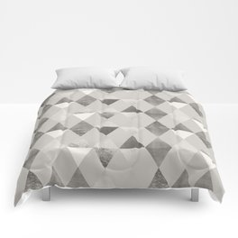 FUNKY PATTERN Triangles brown Comforters