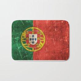 Vintage Aged and Scratched Portuguese Flag Bath Mat