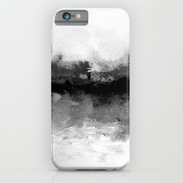 grayscale abstract painting iPhone Case