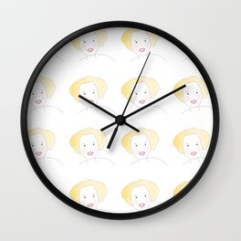 Smiling blond girl Wall Clock