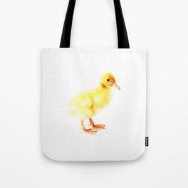 Duckling Watercolor Baby Duck Tote Bag