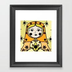 Matryoshka russian doll colorful illustration wall decor - Ana Framed Art Print