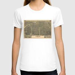 Vintage Pictorial Map of Denver CO (1889) T-shirt