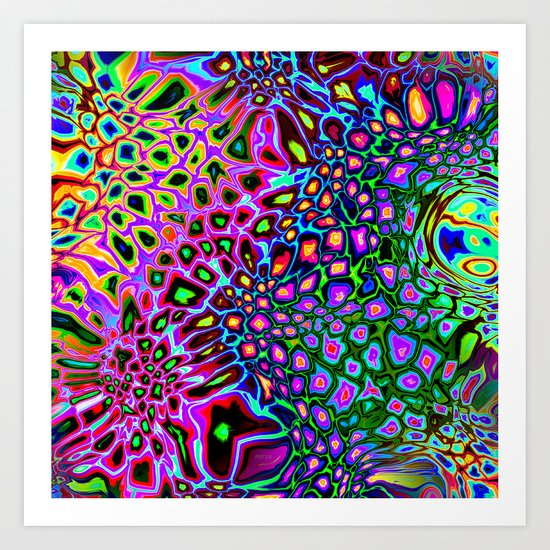 Spectrum of Abstract Shapes Art Print