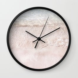 Pink Sand | Coastal Photography | Beach | Nature | Ocean Wall Clock