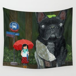 """My French Bull Chubu""  Wall Tapestry"