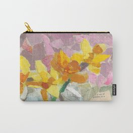 Yellow Flower Collage Carry-All Pouch