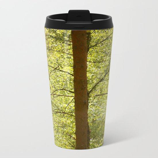 Three Tree Trunks  Metal Travel Mug