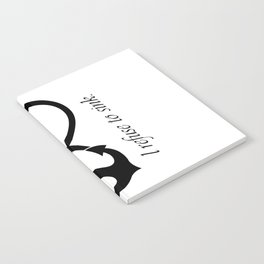 """I refuse to sink"" Quote (Infinity Anchor Symbol) Notebook"