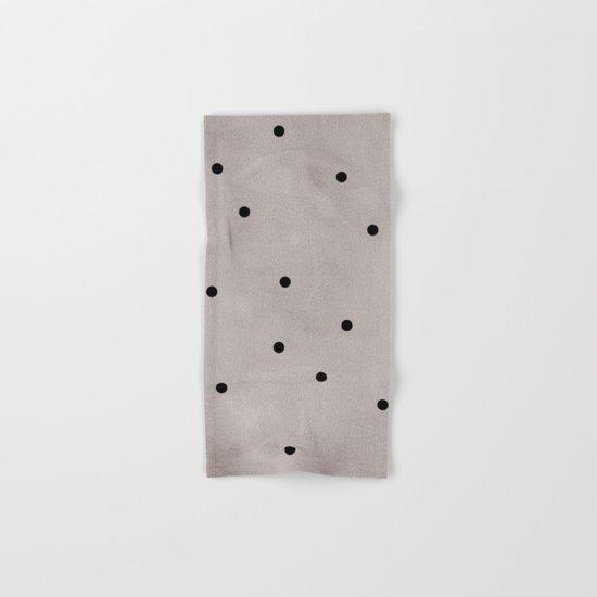 Black dots Hand & Bath Towel