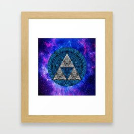 Zelda Triangle Nebula Framed Art Print