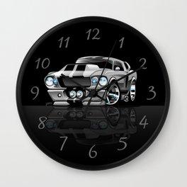 Classic Sixties American Muscle Car Cartoon Wall Clock