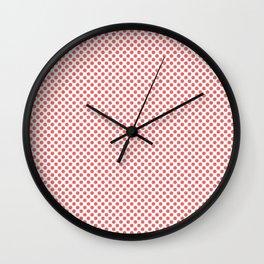Porcelain Rose Polka Dots Wall Clock
