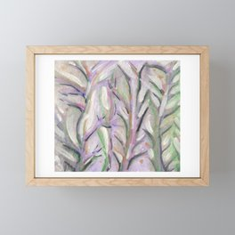Pastel Branches Framed Mini Art Print