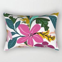 Traditional Soft Pink Red flower pattern #illustration Rectangular Pillow