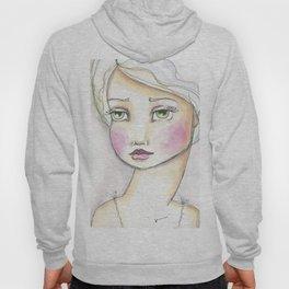 Dreamy Eyed Girl in Sherbert Hoody