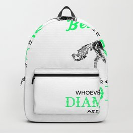 Horses Are a Girl's Best Friend, Not Diamonds Cute Backpack