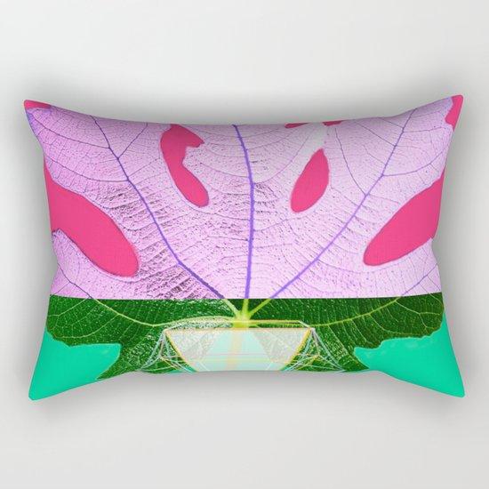 Fig Leaf Diamond Christmas Half and Half Rectangular Pillow