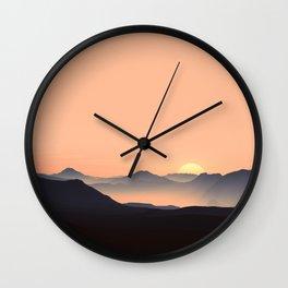 sundown feels Wall Clock