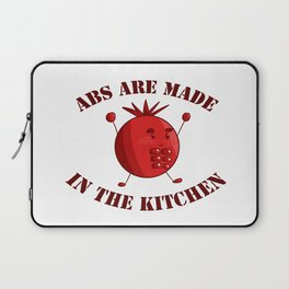 Six-Pack Tomato - Abs are made in the Kitchen Laptop Sleeve