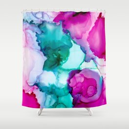 Fairytale Abstract, Alcohol Ink Abstract Painting, Colorful Abst Shower Curtain