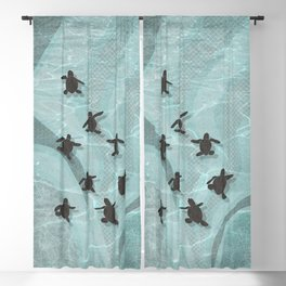 Loggerhead sea turtle hatchlings Blackout Curtain
