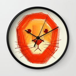 Sad lion Wall Clock