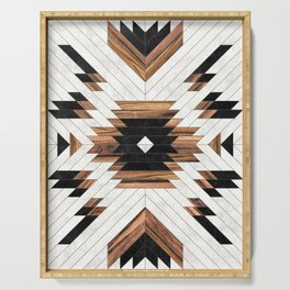Urban Tribal Pattern No.5 - Aztec - Concrete and Wood Serving Tray