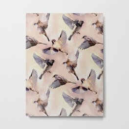 Sparrow Flight Metal Print