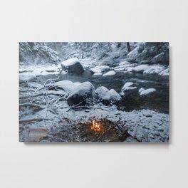 Vermont Winter Metal Print