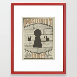 Positivity Is Key v.2 Framed Art Print